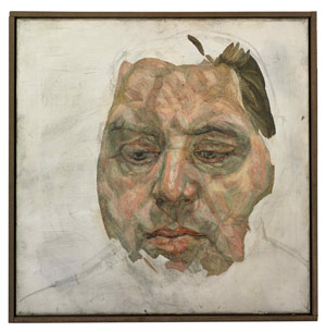 Lucian Freud: Francis Bacon / 1956-57 / olej a uhel na plátně / 35,5 cm x 35,5 cm / Christie´s London 19. 10. 2008 / 9 370 759 USD