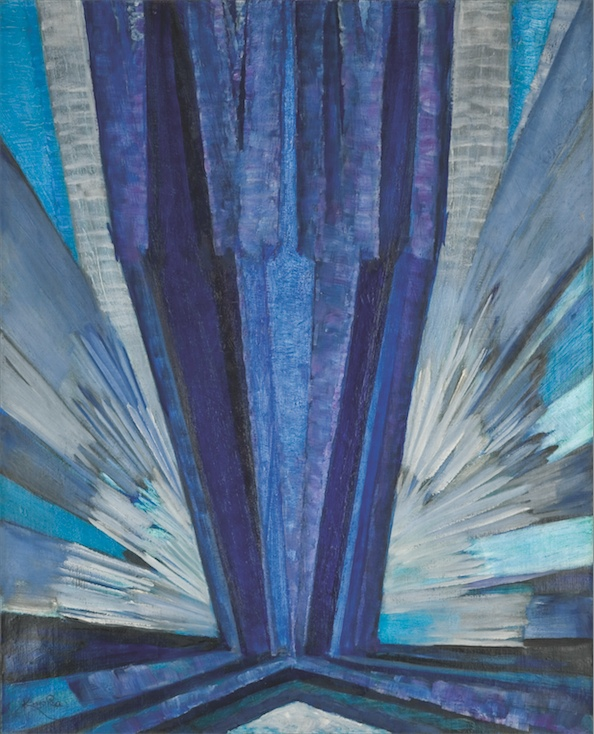 František Kupka: The Shape of Blue / 1913 / oil on canvas / 73 x 60 cm / 57 422 500 Kč / Adolf Loos Apartment and Gallery / 18. 4. 2012