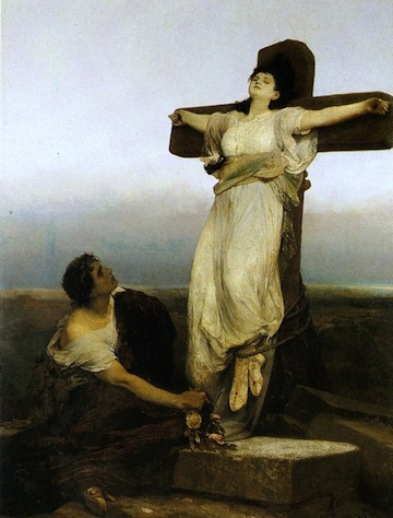 Gabriel von Max: St. Julia / 1865 oil on canvas / 180 x 135 cm price: 1 000 000 Kč (private sale 1995) / Prague National Gallery