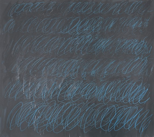 Cy Twombly: Untitled (New York City) / 1968 kombinovaná technika na plátně 152.4 x 173 cm odhadní cena: 50 000 000 USD