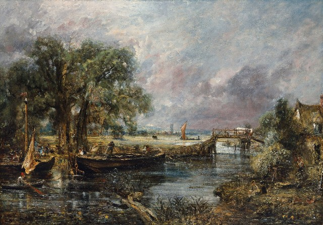 John Constable: View on the Stour near Dedham / 1821-22 olej na plátně / 129.4 x 185.3 cm cena: 14 082 500 GBP