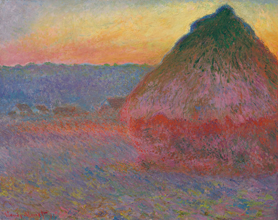 Claude Monet: Meule / 1891 olej na plátně / 72.7 x 92.1 cm cena: 81 447 500 USD Christie's New York, 16. 11. 2016