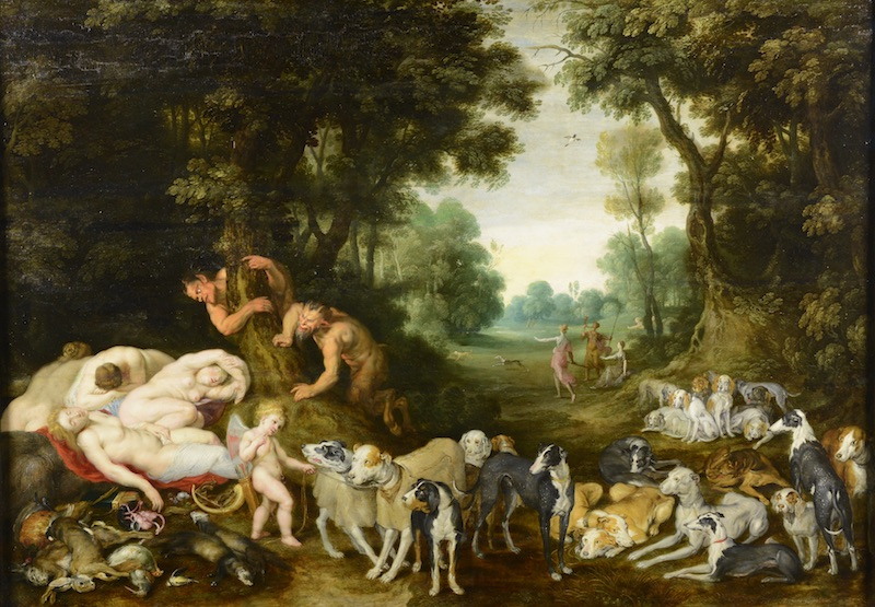 Jan Brueghel ml.: Spící Diana a nymfy