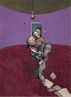 Francis Bacon: Portrait of George Dyer Talking / 1966 / olej na plátně / 198 x 147 cm / Christie`s 13. 2. 2014