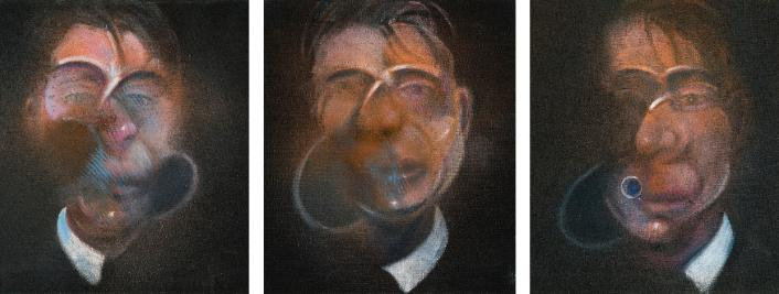 Francis Bacon: Three Studies for a Self-Portrait / 1980 / olej na plátně