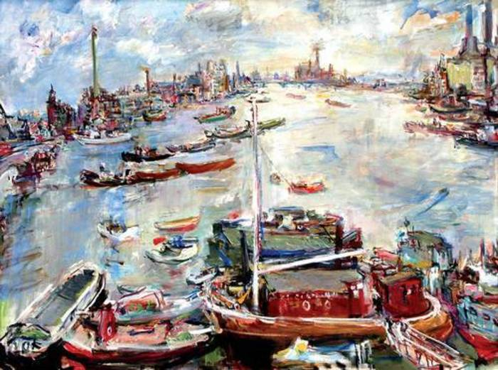 Oskar Kokoschka: London Chelsea Reach, 1957