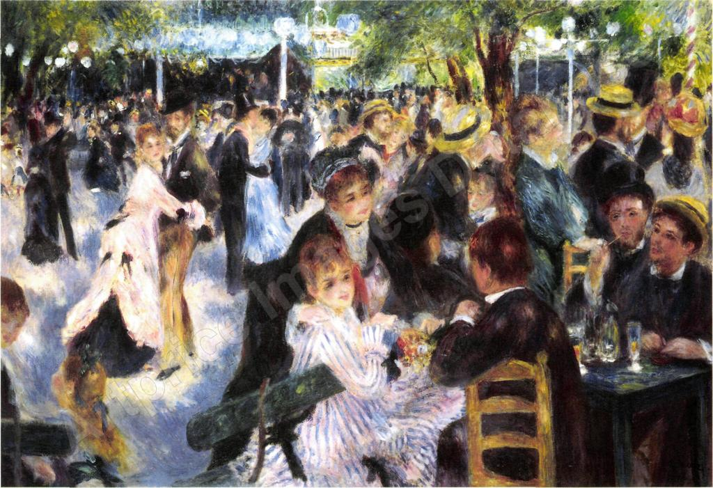 August Renoir, V Moulin de la Galette, 1876